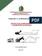 Apostila Carregamento e Transporte de Rocha