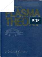 Dwight R Nicholson Introduction to Plasma Theory 1983