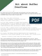 A Little Bit About Buffer Overflows