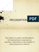 Recognition Report