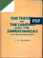 The Theory of the Samdhis and the Samdhyangas in Natya Shastra - T.G. Mainkar