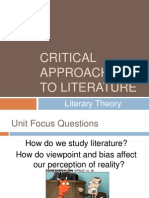 Critical Approaches - Literary Theory PowerPoint