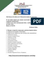 Simuladão LEGISLACAO INSTITUCIONAL - RETA FINAL (sem gabarito)