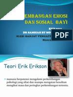 Perkembangan Emosi dan sosial bayi