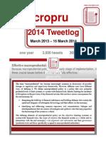 MacroPru Twitlog Annual - March 2014