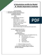 Comparison of Dissolution Profile