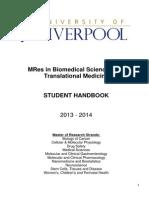 MRes,2013 14,Handbook@Nov,1