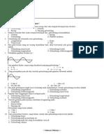 Evaluas 2 Materi Gelombang Kelas VIII - 4 Dan 8