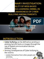 Cyber Bullying - Preliminary Investigation on Parental Awareness