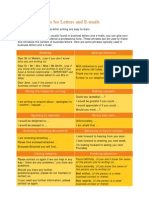 Standard Phrases for Letters and E-Mails