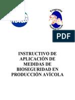 Instructivo de aplicación de medidas de bioseguridad en prducción avícola
