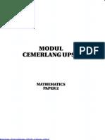 Percubaan UPSR Johor Matematik Kertas 2