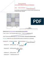 Fórmula para cálculo de conteo celular en cámara de Neubauer 2014
