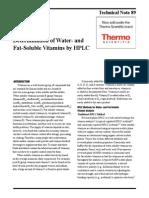 88784 TN89 HPLC WaterFatSolubleVitamins 27Oct2010 LPN2598