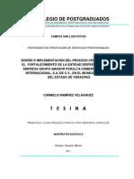 FR Tesina - Diseño e Implementación del Proceso Crediticio para el Fortalecimiento de la Entidad Dispersora de la Empresa Grupo Amador Peralta Comercializadora Internacional, SA de CV en Isla Ver