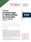Totale Investeringen in Wetenschap en Innovatie 2012-2018 - Rathenau