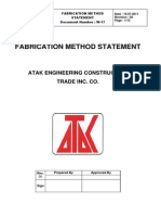 Fabrication Method Statement