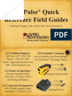 TruPulse 200 360 Quick Reference Guide