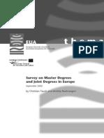 Survey Master Joint Degrees EU