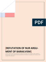 REFUTATION OFNUR ARGUMENT- MODIFIED
