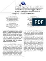 The Development of Sustainable Supply Chain Management and Sustainable Performance in Malaysian Healthcare Industry