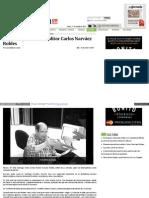 Muere el periodista y editor Carlos Narváez Robles