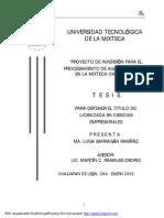 Proyecto de Inversión para el Procesamiento de Agave Mezcalero en la Mixteca Oaxaqueña
