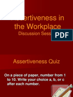 Assertiveness in the Workplace