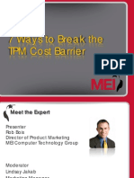 7 Ways of Reducing TPM Cost PDF