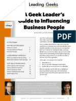 Leading Geeks GoToAssist Influencing Business People White Paper