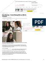 "Park Shin Hye, ""I Liked Filming With Lee Min Ho The Best"" _ Drama Stories _ KDramaStars"