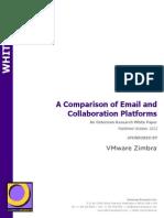 Zimbra vs Other Email Platforms