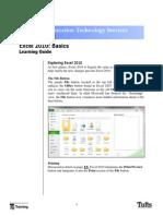 Excel 10 Basics