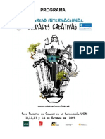 Programa detallado del I Congreso Internacional Ciudades Creativas.