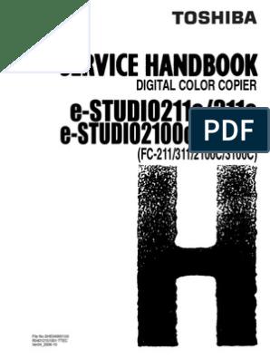 Toshiba eStudio 211c Service Handbook | Microsoft Windows | Printer