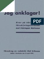 Jag Anklagar - Elof Eriksson 1937