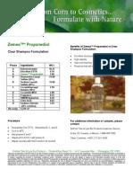 Zemea Clear Shampoo Formulation 1