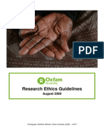Oxfam Australia Research Ethics Guidelines