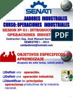 OPERACIONES INDUSTRIALES - SESION 01 - INTRODUCCION  A LAS OPERACIONES INDUSTRIALES