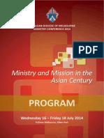 Melbourne Diocesan Ministry Conference 2014 - Program
