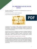 Estilos de Aprendizaje de David Kold