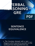 Verbal Reasoning - GRE