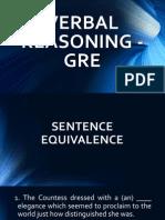 Verbal Reasoning - GRE