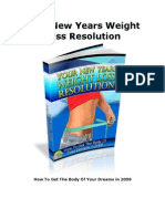 Your New Year Weight Loss Resolution