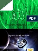 Agama Sebelum Islam