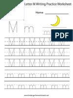 Letter m Writing Practice Worksheet