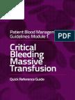Massive Transfusion Module