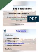 Elements de Cours Mkt Op. ESC2 CM3