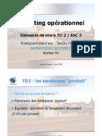 Elements de Cours Marketing Op. ESC2-TD2