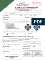 UTA Order Form 2014